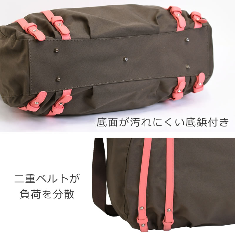 一泊旅行 旅行バッグ 大人可愛いボストンバッグ トートバッグ 大きい ボストンバッグ トートバッグ 2way おしゃれ かわいい 底鋲付き