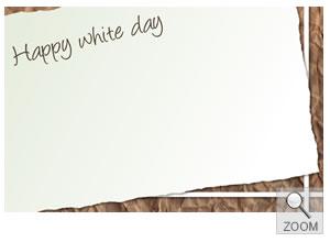 ギフト用メッセージカード whitedayホワイトデー