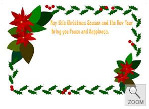 ギフト用メッセージカード X'mas クリスマス