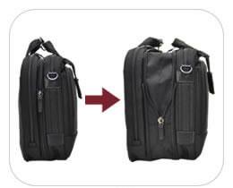 3way ビジネスバッグ 横背負い マチ拡張 マチ幅 おすすめ
