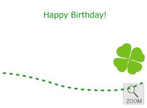 ギフト用メッセージカード happy birthday 御誕生日おめでとう