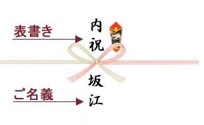 熨斗(のし)の表書きと名義の書き方