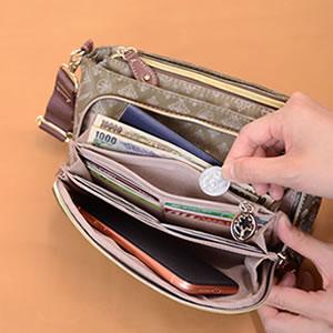 ショルダーバッグ レディース 財布機能付き