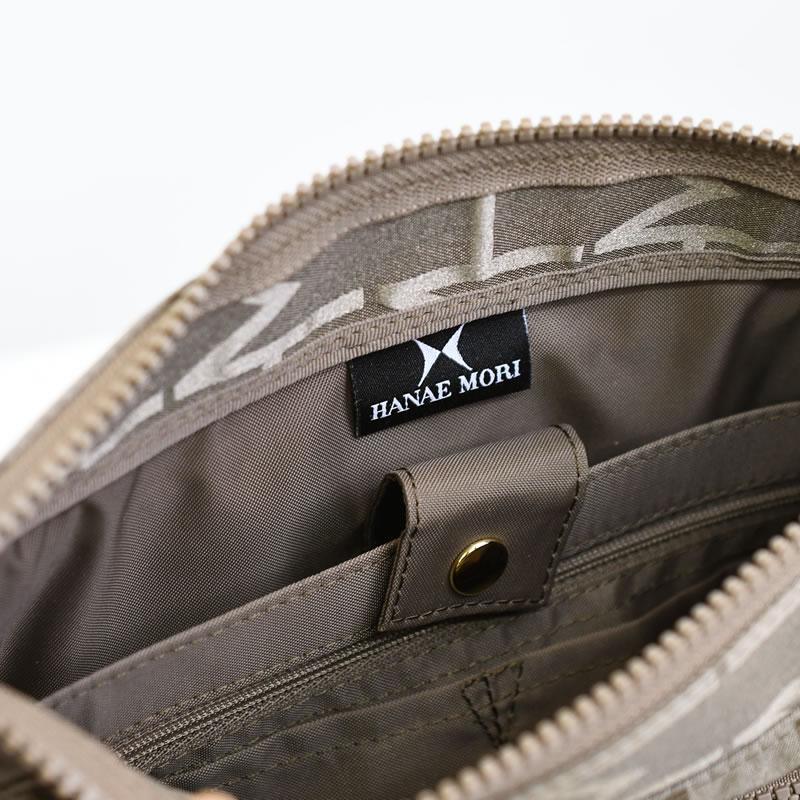 ショルダーバッグ レディース ブランド 黒 ハナエモリ 斜めがけバッグ ナイロン 軽量 黒 人気 防水 弱撥水 きれいめ シニア ミセス ポケット充実 機能的