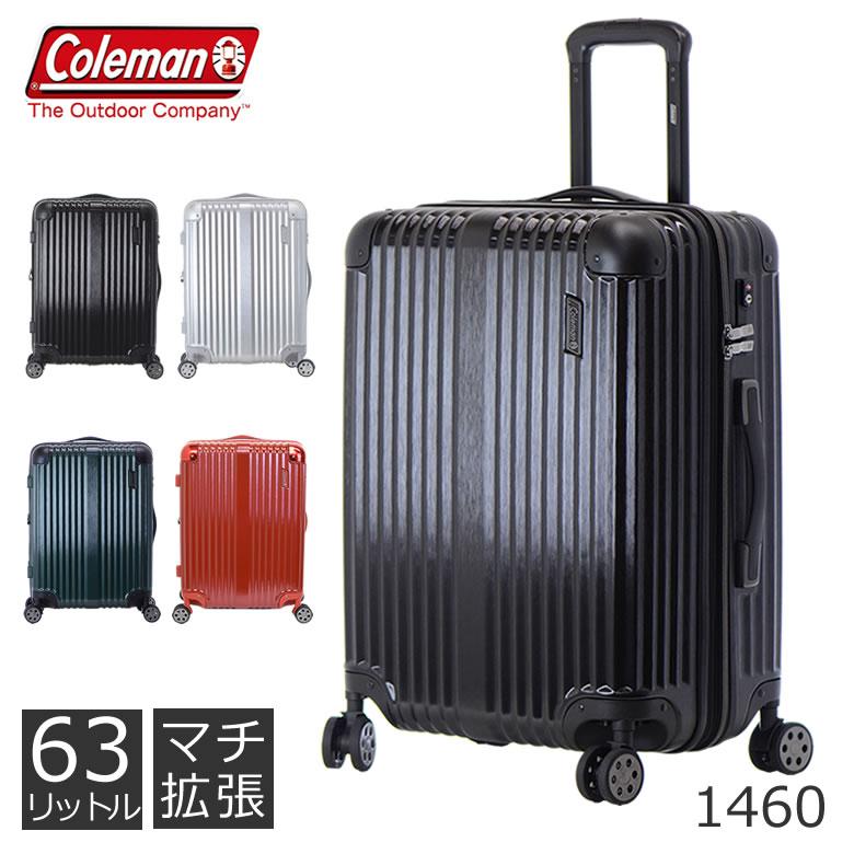 654bc7ee81 Coleman キャリーケース Mサイズ 63L TSAロック コールマン 1460 · 海外旅行にも使いやすい ...