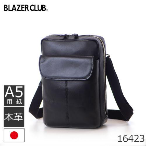 09b5b1a0229d 牛革ショルダーバッグ, 必需品をコンパクトに持ち歩くショルダーバッグ メンズ 本革 斜めgake ブランド 小さめ 日本製 BLAZERCLUB  16423