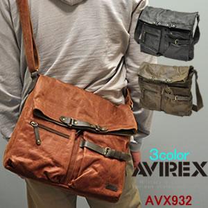 AVIREXフェイクレザー メッセンジャーバッグ