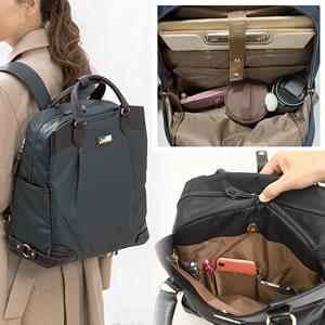 営業に行ける2wayリュック お弁当が入るレディース通勤バッグ
